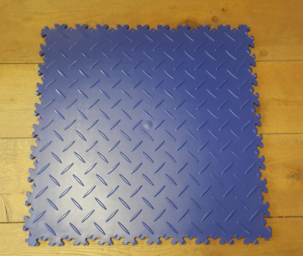PVC Fliesen blau