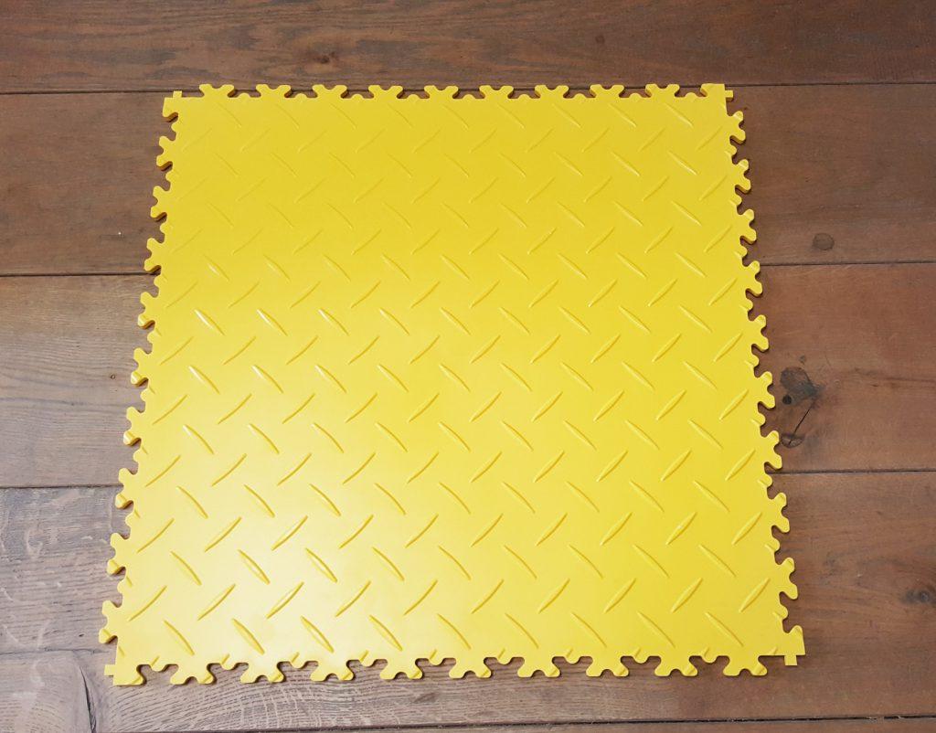 PVC Fliesen gelb