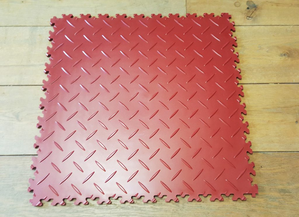 PVC Fliesen rot